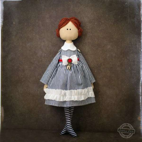 Textile Art Doll Ooak Cloth Handmade Sabinapalmdesign
