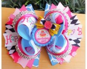 happy birthday boutique hair bow