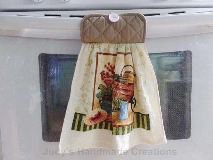 Hanging Kitchen Towel Tan Hand