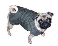 Pug Extra Warm Winter Dog Coat Gray Dog Jacket Custom Dog