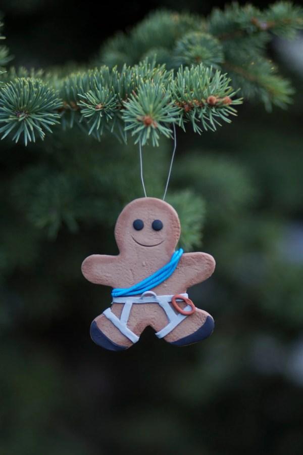 Rock Climber Gingerbread Ornament Thejollygingerbread