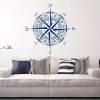 Compass wall decal | Etsy