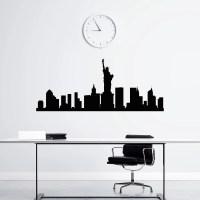New York Skyline Wall Decal Vinyl Stickers NYC Skyline City