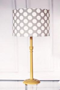 Lamp shades grey lampshade polka dot lamp by ShadowbrightLamps