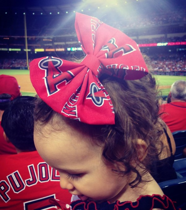 Los Angeles Angels Bow Clip Headband Baseball
