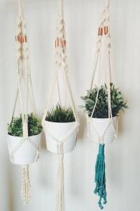 Macrame plant hanger hanging planter