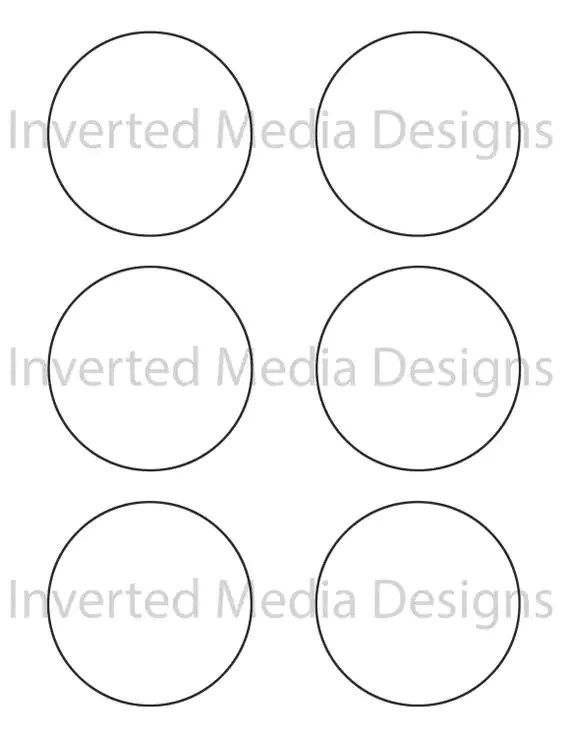 3 inch Circle (zentangle) bold outline .PDF file from