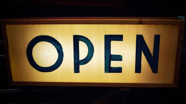 Art Deco Custom Light Box Open Sign