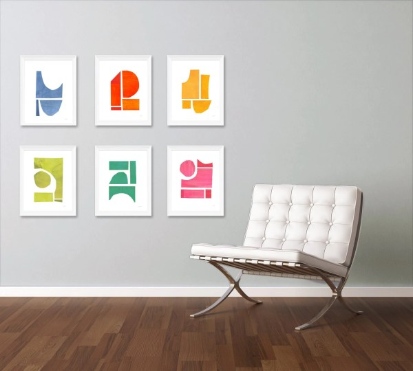 Art Print Set Large Wall Contemporary