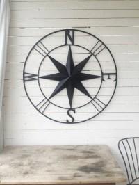 Items similar to Metal Compass ,Nautical Wall Art