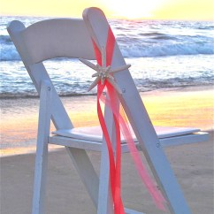 Starfish Wedding Chair Decorations Ikea Long Covers Beach Decor Decoration With Satin
