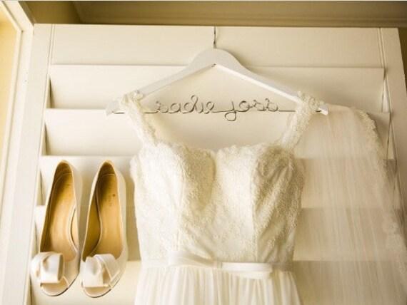 Personalized Wedding Dress Hanger White Hanger Hanger For