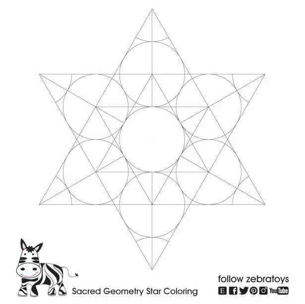 Star of David Sacred Geometry Pattern-Spiritual Strength-Rosh