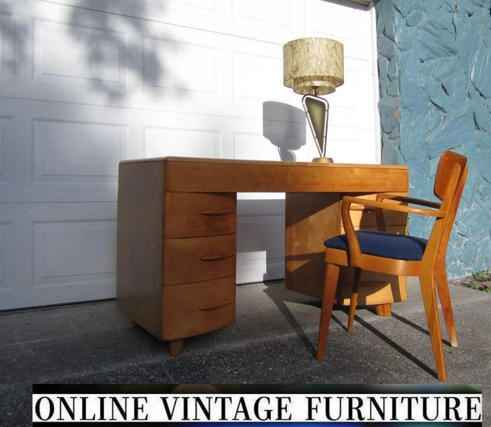 Heywood Wakefield 1950s Desk vanity vintage mid century