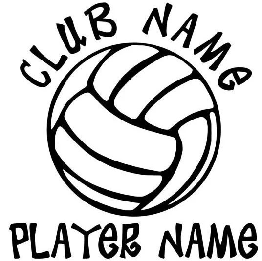 Volleyball Decal Personalized
