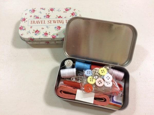 Travel Sewing Kit In Tin