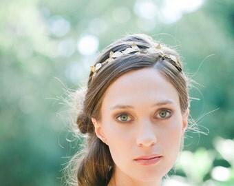 leaf headband bridal headband bridesmaid headband wedding