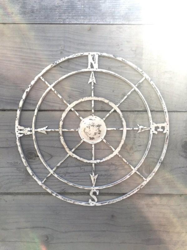Compass Wall Art Nautical Decor Metal