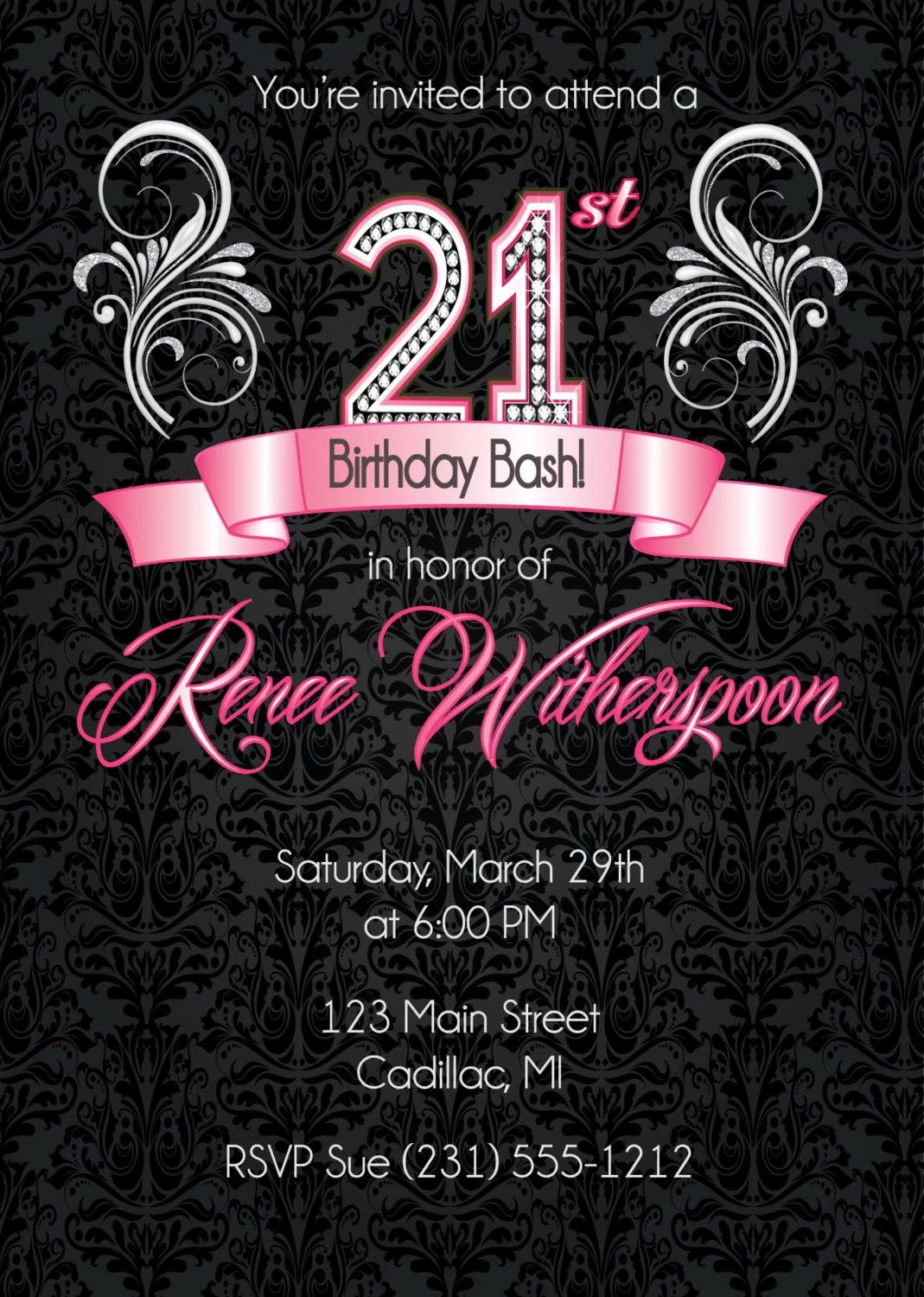 free 21st birthday invitations templates