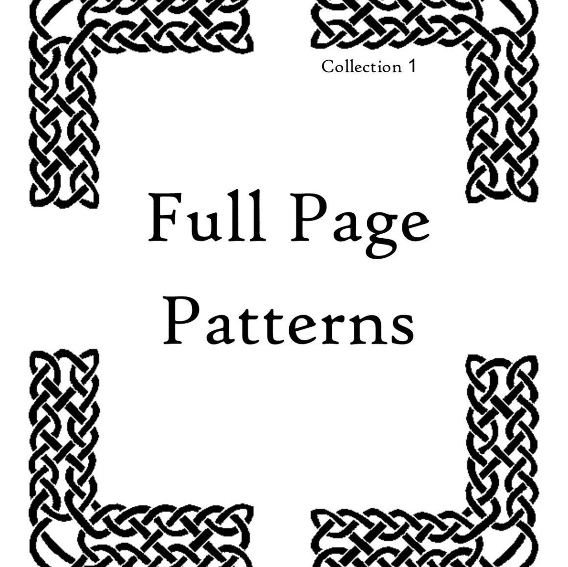 Full Page Patterns Coloring Book By Enchantedtrails On Etsy