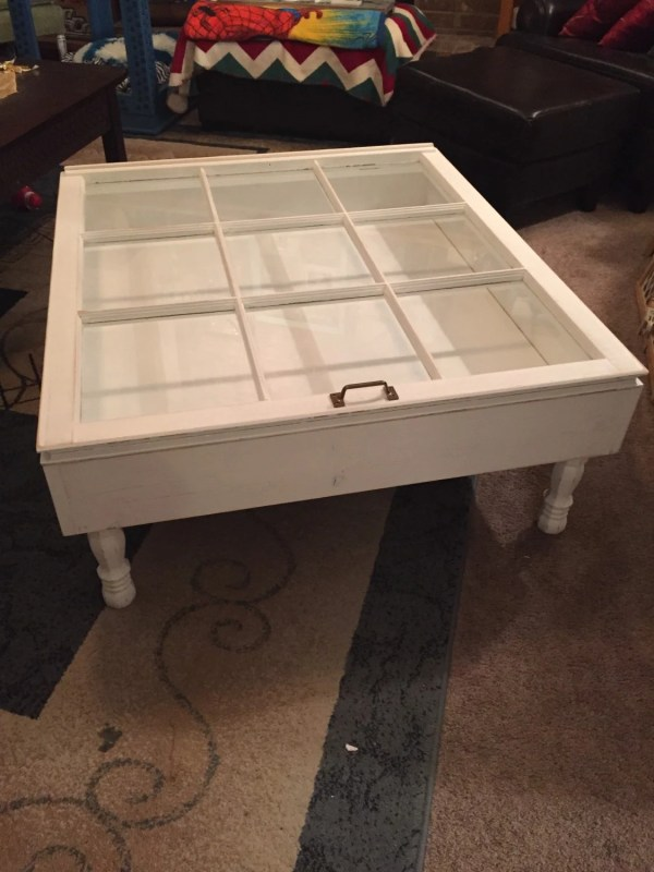 Rustic Coffee Table Shadow Box