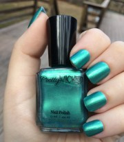 greenish blue nail polish eden