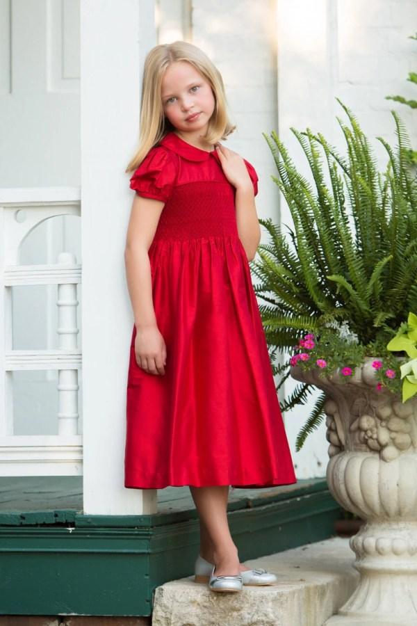 Red Dress Christmas Dresses Little Girls Smocked