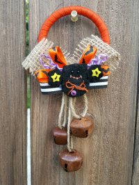 Halloween Bat Door Knob Hanger Wall Decor Halloween Door Decor