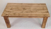 Pine rustic farmhouse coffee table distressed by ...