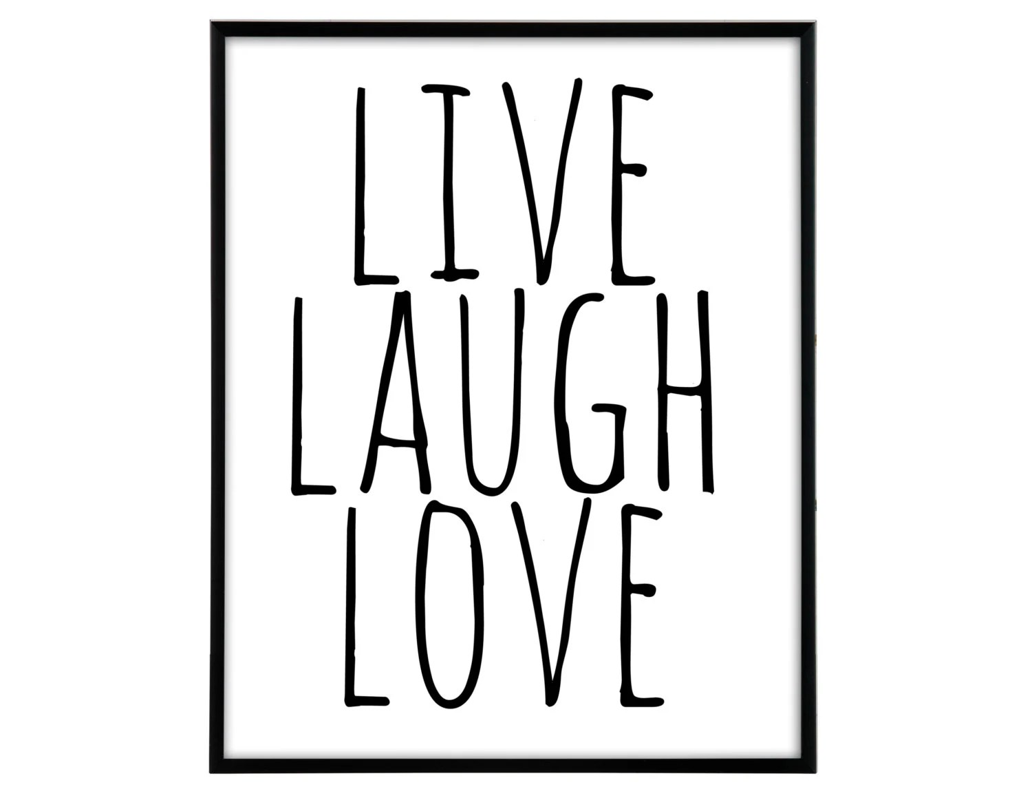 Live laugh love lll poster printable poster printable by