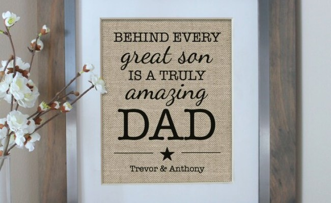 Father S Day Gift From Son Personalized Gift By Emmaandthebean
