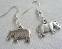 Hippo earrings   Etsy