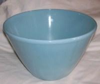 Vintage Fire King Delphite Blue Mixing Bowl Splash Proof Retro