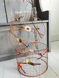 Copper Bird Cage Light / Lamp Shade / Chandelier standard