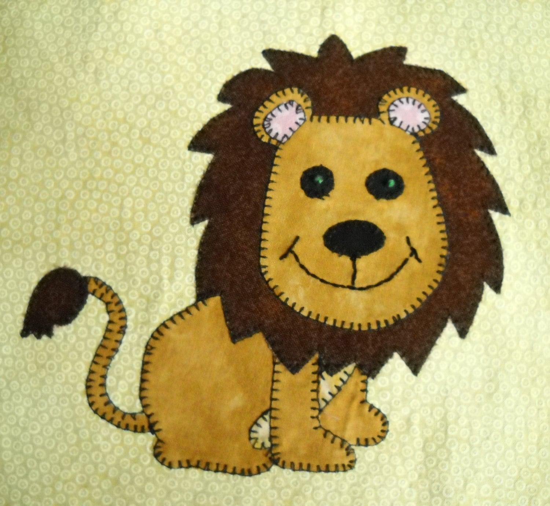 Lion Applique Pattern African Safari Animal Applique