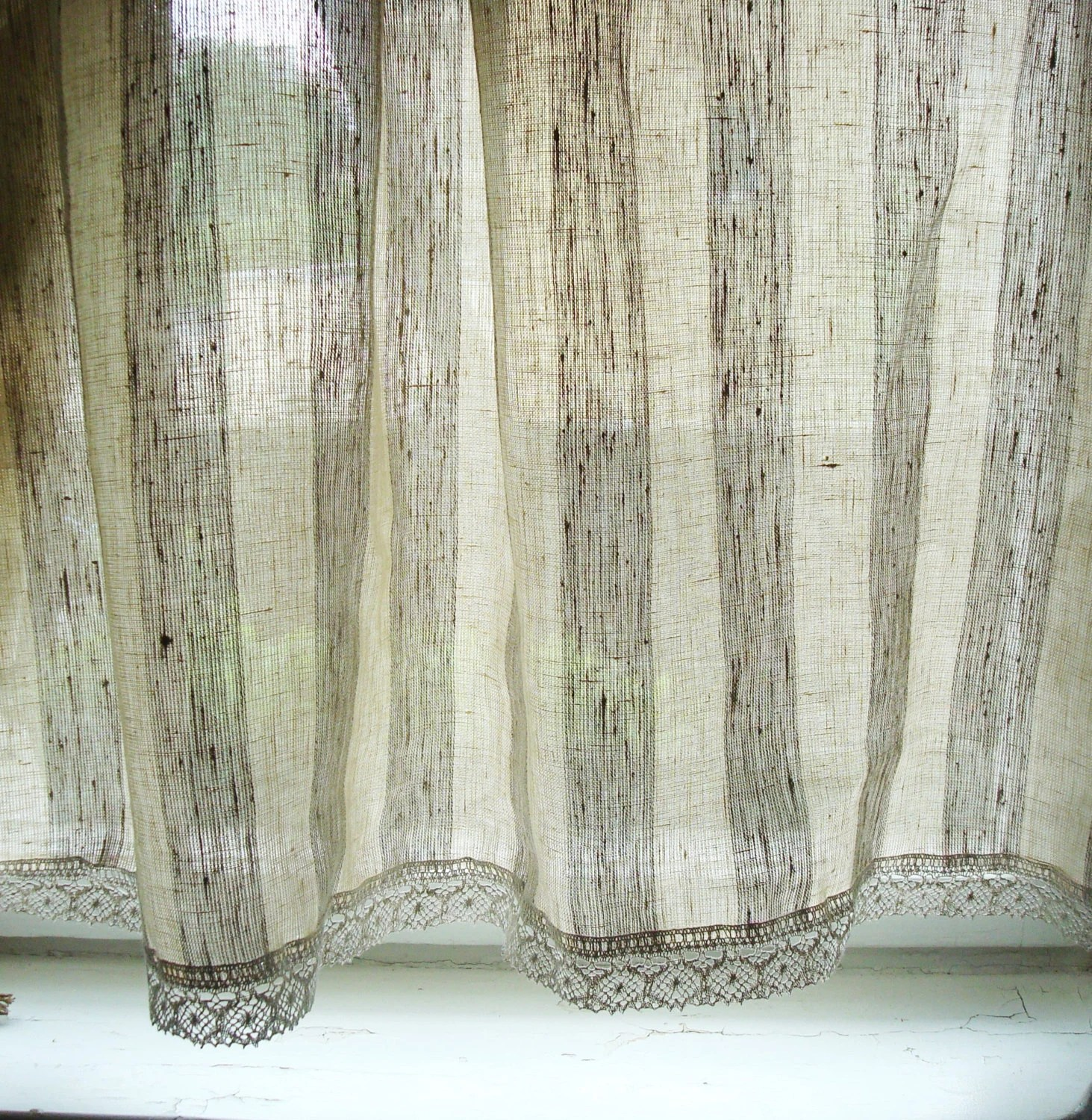 Striped Cafe Curtain Etsy