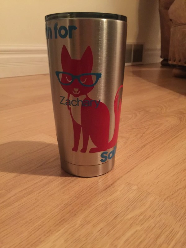 Fox Sake Tumbler Travel Mug Cup Decal