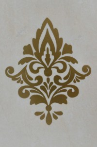 Damask Removable Wall Decals x 5. Removable by RedFacedYogi