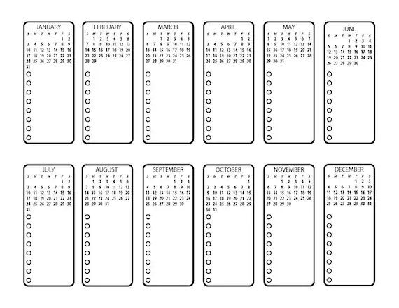 Bullet Journal Printable Future Planning by