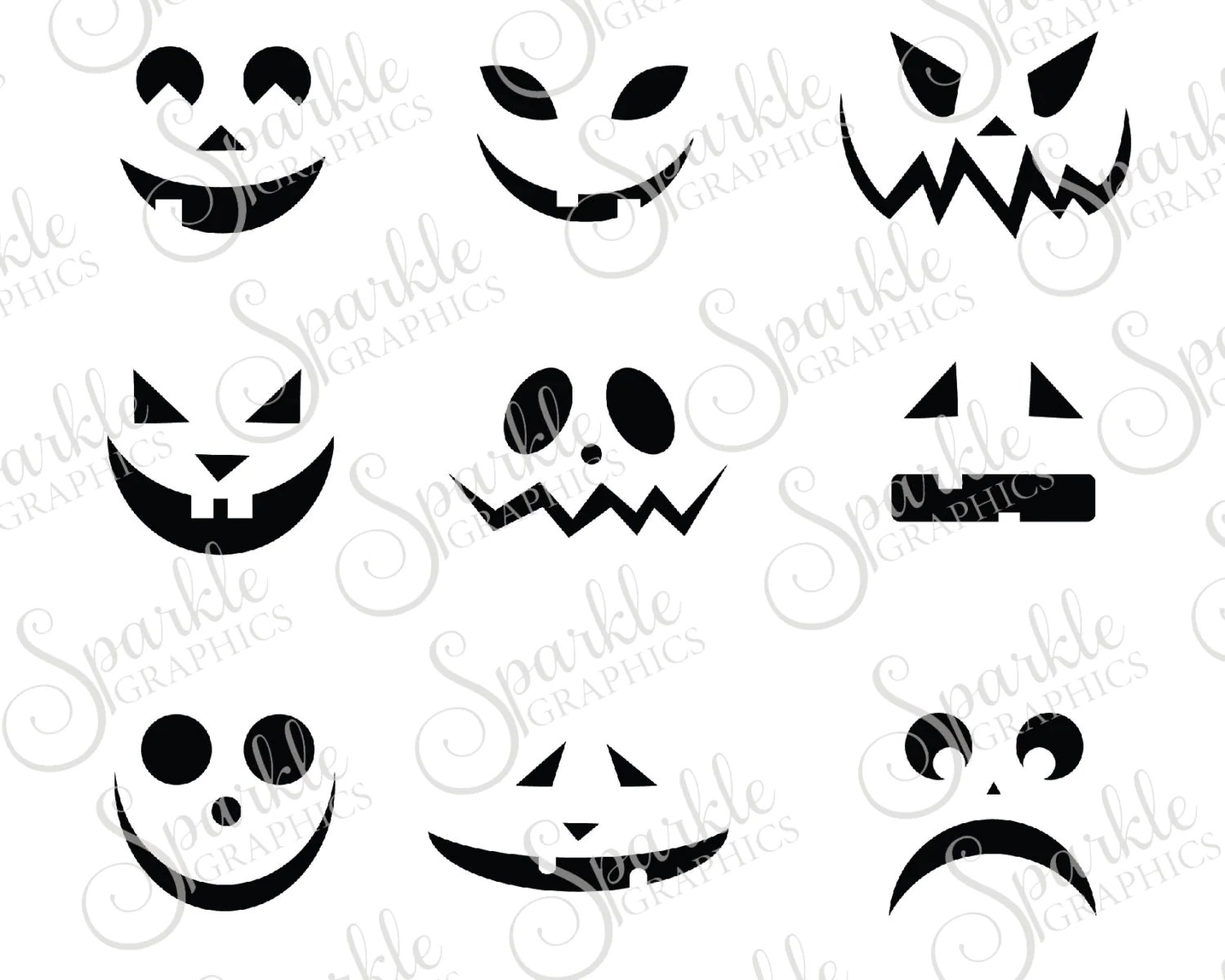 Jack O Lantern Faces Cut File Halloween Svg By