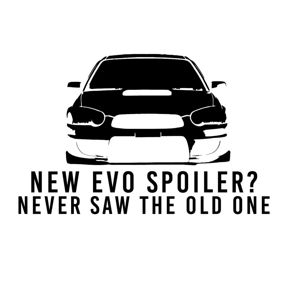 DECAL SERPENT SP-333 Never Saw The New Evo Spoiler Funny Jdm