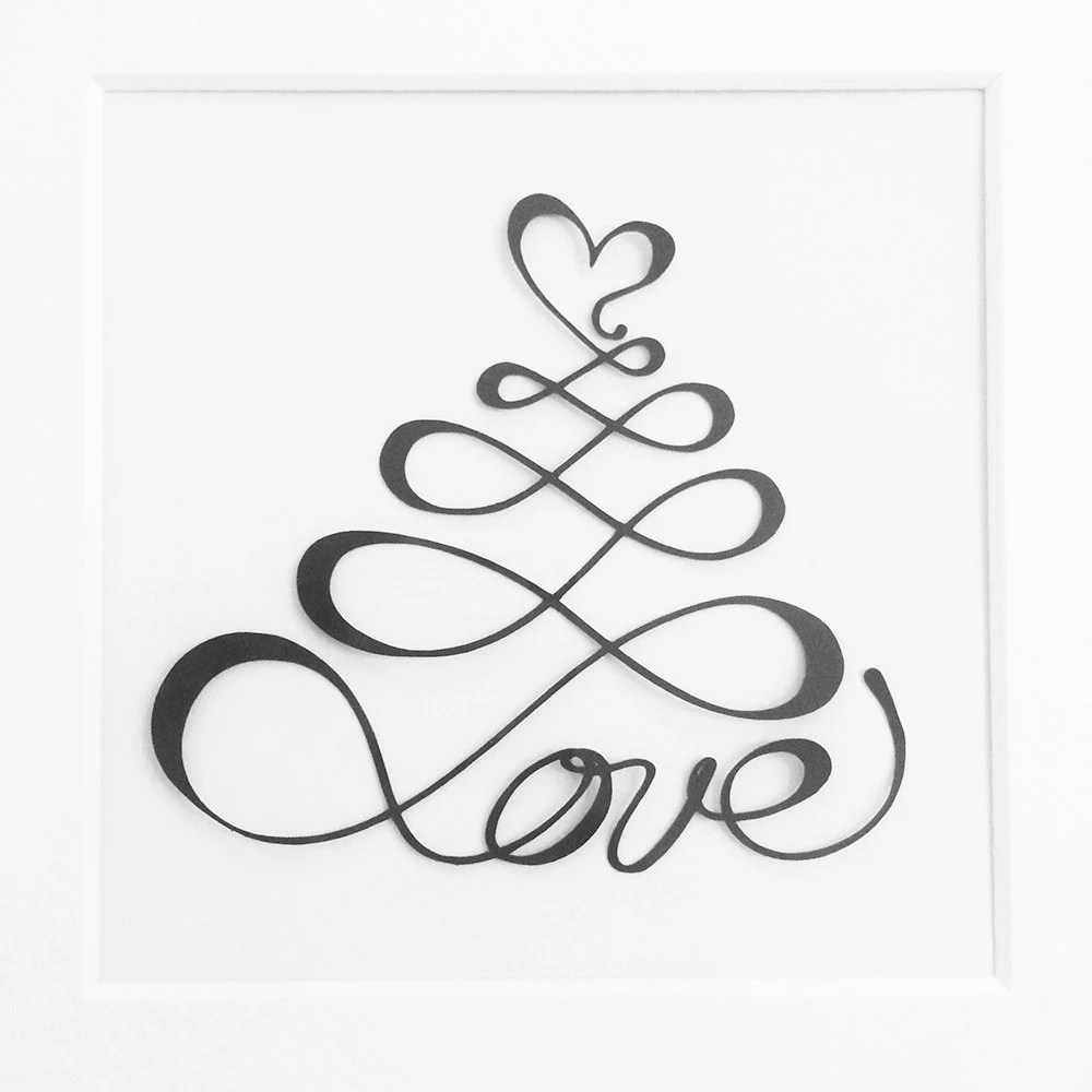 Love with Loops and Heart / Cutting File for by DesignsToCut