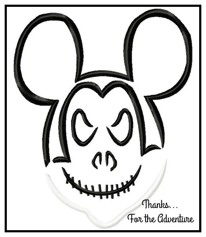 Mickey Mouse Jack Skellington from Nightmare Before