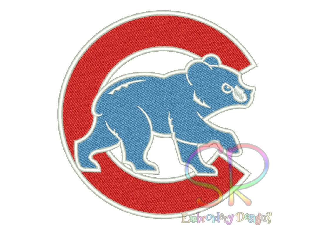 8 Size Chicago Cubs Embroidery Designs Baseball Logo