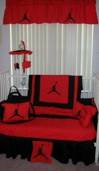New 9 piece Michael Jordan baby crib bedding set Diaper Bag