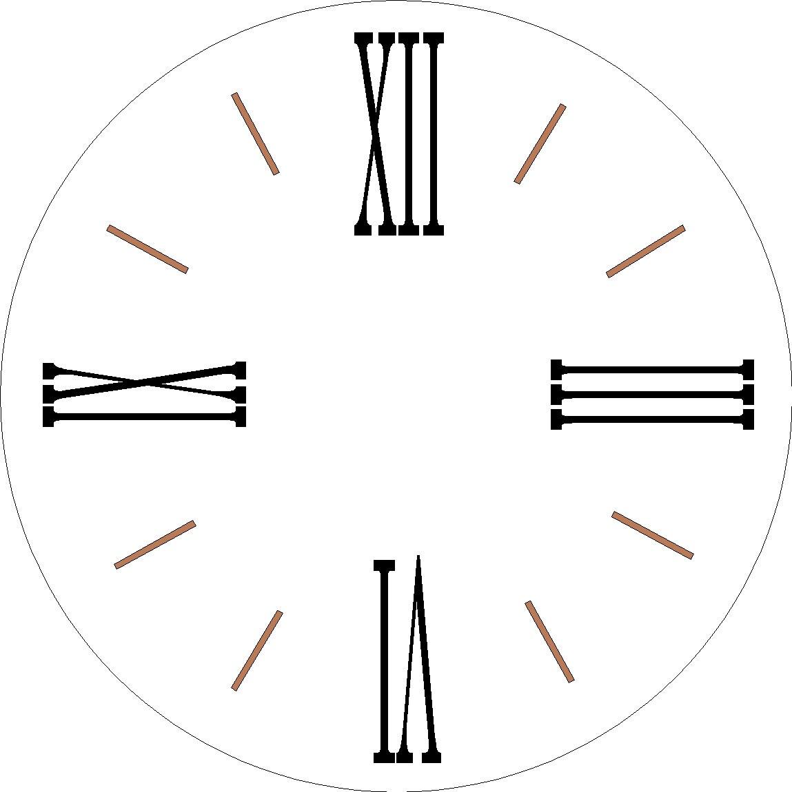Farmhouse Clock 1 Set Roman Numeral Stencils For Large 30 Inch