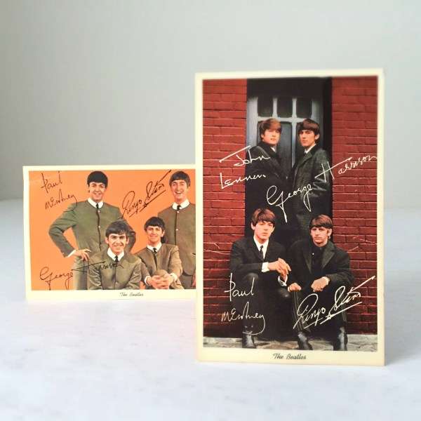 2 Vintage Beatles Postcards 1964 John Lennon Paul