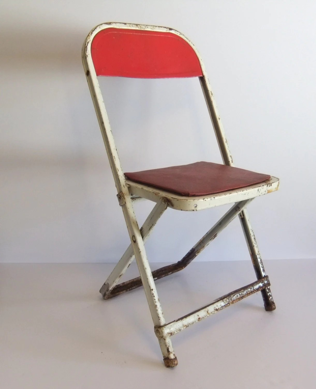 Kids Folding Chair Metal Childs Chair Vintage Metal Whilte Kids Chair