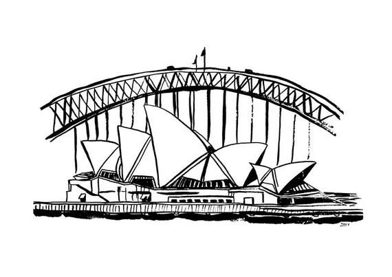 Items similar to Sydney A4 Art Print, Sydney Opera House
