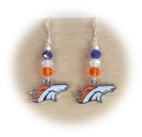 Denver Broncos Earrings Bronco Bling Earrings by ...